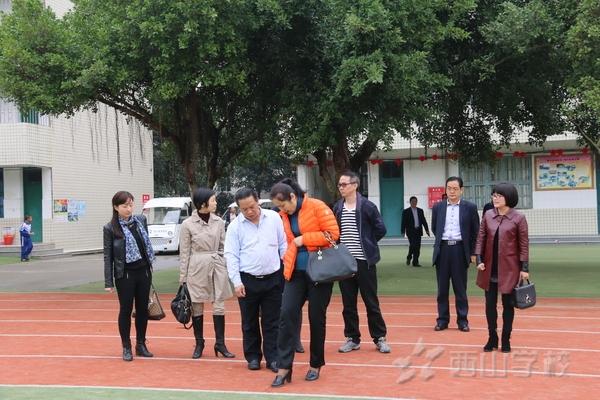 福建省教育厅体卫艺处及福清市教育局领导莅临西山学校进行校园足球专项调研