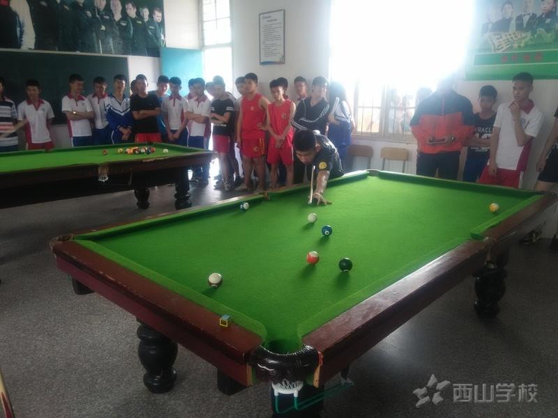 西山职业技术学校举办文化体育艺术技能周桌球比赛