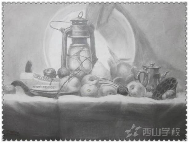 福建西山高中部学校美术特长生作品展