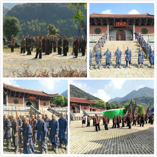 福清西山职业技术学校参加电影《南少林咏春拳》拍摄
