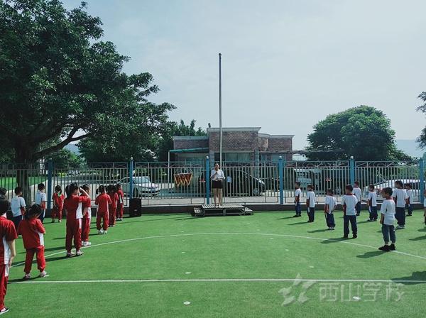 安全之花处处开——福清西山学校幼儿园di升旗仪式