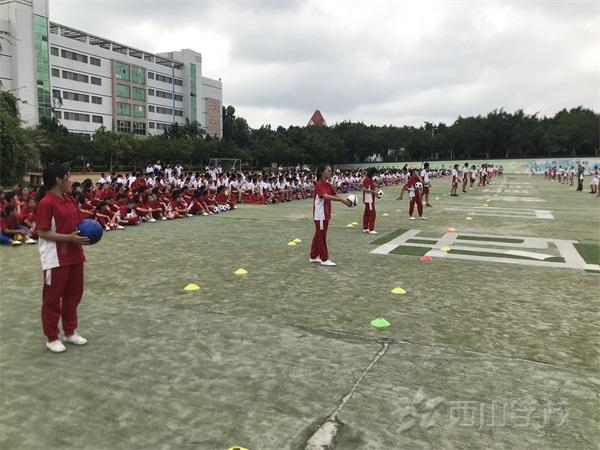 西山学校初中部举行体育期末考试