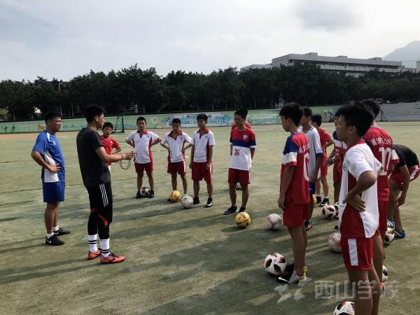 """西山学校初中部足球队热火朝天备战""""省锦标赛"""""""
