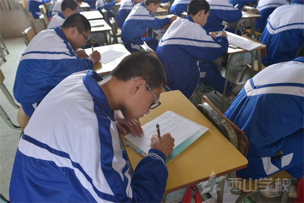 西山学校初中部初三年段举行英语单词检测