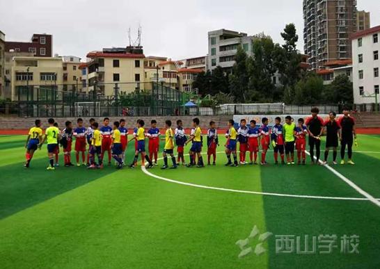 西山小学男子足球甲组二队4:0胜阳下洪宽小学、乙组12:0胜城头小学