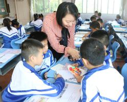 福建西山学校小学部邀请福州小学英语名师郭琳榕来校送培送教