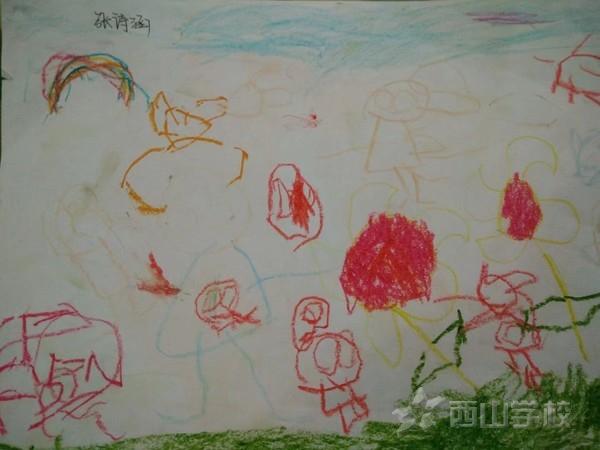 福清西山学校幼儿园康康二班2018年10月幼儿作品展