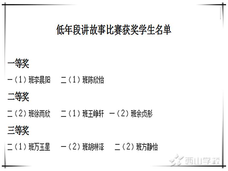 小故事,大道理--江西省西山学校小学部举行讲故事比赛