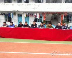 福清西山职业技术学校举行体育教师公开课——蹲踞式起跑动作练习