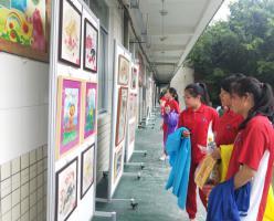 西山彬雅少年展风采——福建西山学校小学部举行庆六一师生书画作品展