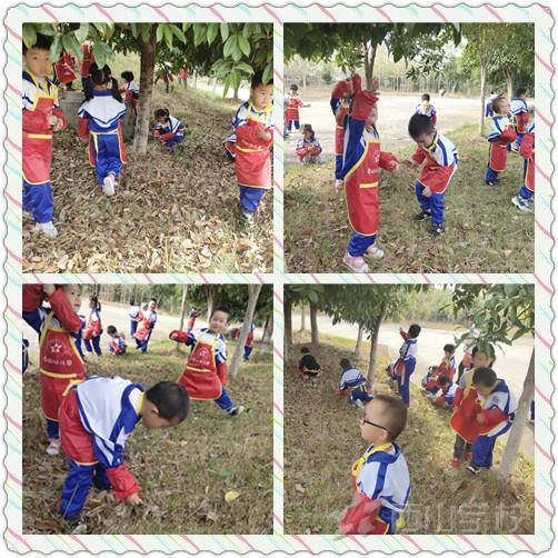秋日如诗 与秋共舞——江西省西山学校幼儿园树叶粘贴画活动