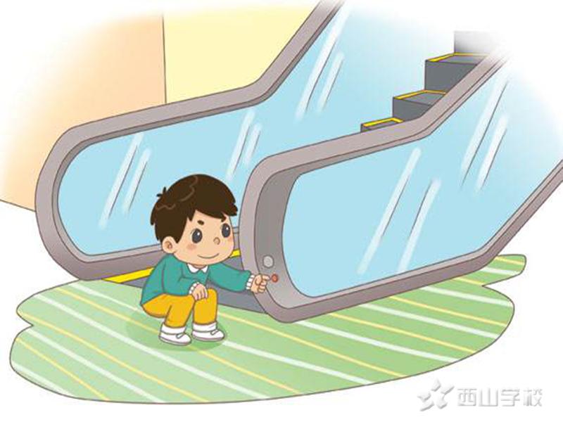 电梯安全我知道——江西省西山幼儿园周末安全课