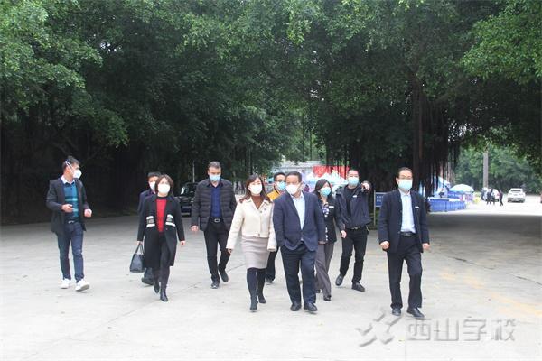 福清市教育局副局长张玲玲一行莅临西山学校检查指导高三复课工作